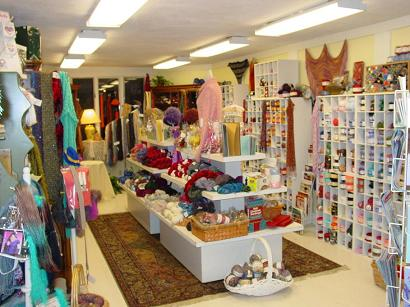Main room of RA Yarns