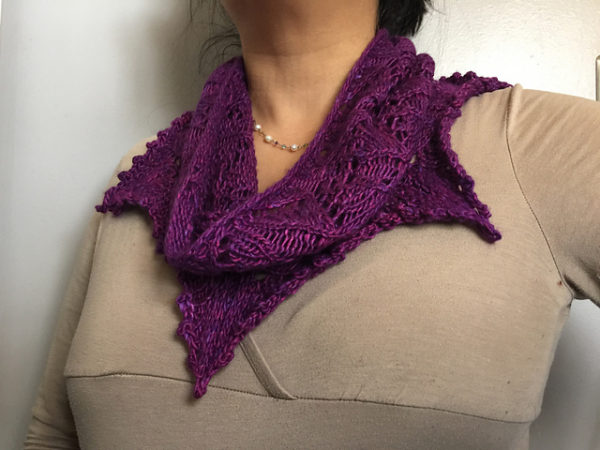 Tidewater Cowl in The Fibre Co. Terra's Rhodora colorway